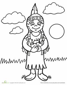 native american coloring pages for preschool | color by numbers indians worksheet (2) | Native American ...