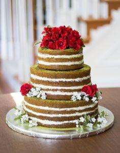 Naked Matcha Green Tea Cake with Black Sesame Seed Buttercream [OC] Wedding Cake Flavors, Wedding Cakes, Cupcakes, Cupcake Cakes, Pink Champagne Cake, Matcha Cake, Cake Tasting, Just Cakes, Strawberry Cakes