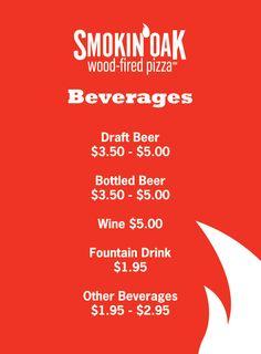 Beverages menu designed