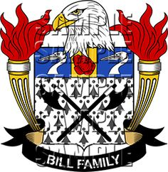 Bill Family Crest apparel, Bill Coat of Arms gifts