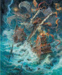 çizgili masallar: The Little Mermaid by Anton Lomaev