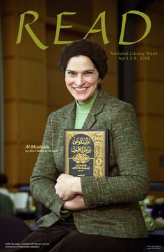 2006 Law Library READ poster featuring Professor Asifa Quraishi reading Al-Mustasfa by Abu Hamid Al-Ghazali