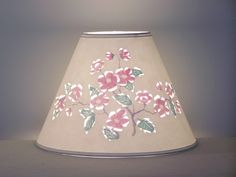 Apple Blossom Cut & Pierced Lampshade by BarbaraGailsLamps on Etsy, $45.00