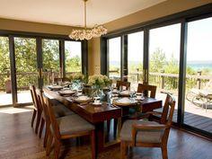 Neutral elegant dining room