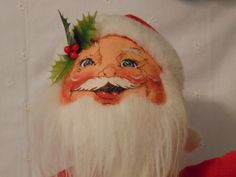 Annalee Santa, 1990 Santa , Santas Bag , Stands 19 Inches ,On Stand by simpleholidaydecor on Etsy