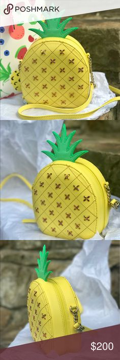 """Kate Spade new collection pineapple crossbody! NWT This is from the new summer collection by Kate Spade: """"how refreshing"""" This is a beautiful pineapple shaped crossbody. It is brand new with tags attached. It comes from a smoke free and pet free environment! kate spade Bags Crossbody Bags"""