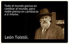 Tolstói.. Antes de juzgar mírate la viga en el tuyo guey