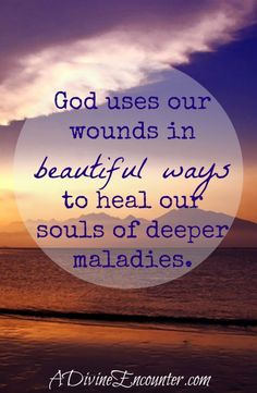 A fresh, inspiring perspective on painful trials in the Christian life. (Isa. 53:5) http://adivineencounter.com/healing-in-the-wounds