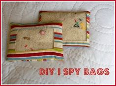 Love!  Great for any quiet down-time moments (church etc). DIY I Spy bags!