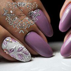 Pin by eclat on nail catalog in 2019 nail art designs, nail Chic Nails, Glam Nails, Glitter Nails, Pretty Nail Colors, Beautiful Nail Designs, Pretty Nails, Nail Polish Designs, Nail Art Designs, Shellac Nails