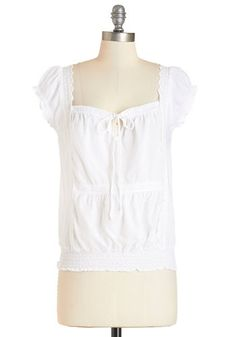 Lights, Camera, Actress Top. Its the morning of auditions, and youre ready to wow in this white, boho-inspired top! #whiteNaN