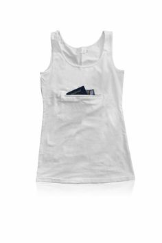 Amazon.com: Clever Travel Companion Tank top with secret pocket Black Large: Clothing