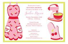 San Lori Invitations | Cherry Kitchen Shower Invitation | Polka Dot Design