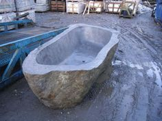 A luxury natural stone Bath Totally unique honed from one piece of River Rock Granite This is a very large Bath measuring approx 2700 mm x 1300 mm x Stone Bath, Stone Sink, Large Baths, Granite Stone, Marble Mosaic, East Sussex, Brighton, Natural Stones, Bathrooms
