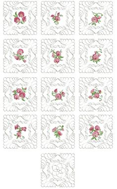 Quilt As You Go Sweet-Pea Quilt Blocks - Embroidery Weekly Quilt As You Go, Colorful Quilts, Block Design, Quilt Blocks, Embroidery Designs, Stitch, Sweet, Projects, How To Make