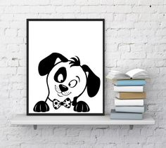 Nursery wall art, Puppy print, Dog print, Puppy poster, Dogs, Dog lovers, Dog art, Painting, Funny animals, Minimalist art, INSTANT DOWNLOAD