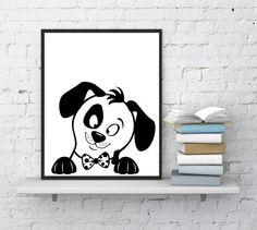 Nursery wall art Puppy print Dog print by InstantDownloadArt1