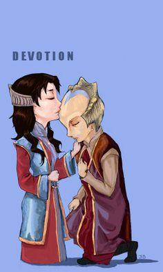 Lennier and Delenn. True devotion. I hate what Lennier ended up doing though.