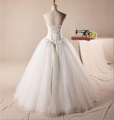 Custom Handmade Cheap New Arrival White Sweetheart by dressbridal, $219.99