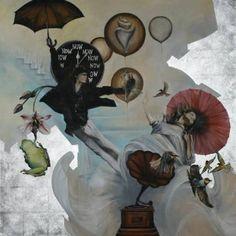 "Saatchi Art Artist Arno Bruse; Painting, ""Die Bienenesserin - The Bee Eateress"" #http://www.saatchiart.com/smart.art"