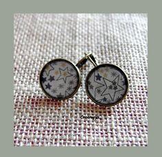 Dormeuses liberty adelajda taupe 18 mm : Boucles d'oreille par crocmyys
