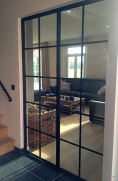 stalen deur INCEE front room to extension doors? (to match stair banister? Style At Home, Room Interior, Interior Design Living Room, Cosy House, Home Living Room, Windows And Doors, Home Fashion, Interior Architecture, Building A House