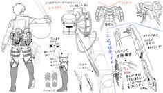 Attack on Titan Survey Corps uniform tutorial (part - cosplay Aot Cosplay, Cosplay Diy, Cosplay Ideas, Cosplay Outfits, Anime Outfits, Attack On Titan Series, Attack On Titan Anime, Character Model Sheet, Character Design
