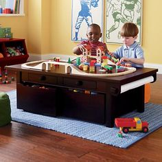 Delicieux Kidsu0027 Play Tables: Kids Espresso Adjustable Wooden Activity Table In Play  Tables U0026 Chairs