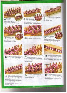 Loom knitting stitches page 02 ♥LLKT♥ Bastidor-azteca