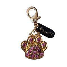 Pingente Pata Ouro Rosa Woof - MeuAmigoPet.com.br #petshop #cachorro #cão #meuamigopet