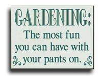great garden sign and gift