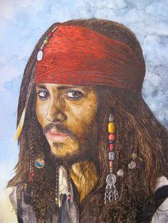 Captain Jack Sparrow 2 gespielt von Johnny Depp in dem Film Fluch der Karibik 2 - Jutta Bachmann