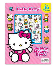 Another great find on #zulily! Hello Kitty Board Book & Bubble Magnet Set by Hello Kitty #zulilyfinds
