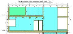 Развертка стены (интерьер) по оси 9 - выход на террасу