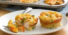 Enjoy this chicken pot pie filled with peas and carrots – a delightful dinner made using Original Bisquick® mix. (Easy mini chicken pot pies in muffin tin. Bisquick Recipes, Pie Recipes, Chicken Recipes, Cooking Recipes, Recipies, Dinner Recipes, Chicken Appetizers, Delicious Recipes, Chicken Pot Pie Filling