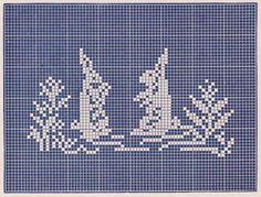 FREE filet crochet patterns -- bunny rabbit, duck, butterfly, roses and edgings at sentimentalbaby.blogspot.com