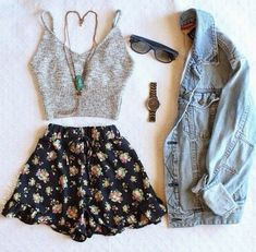 shorts fashion High waisted shorts denim jacket jacket top , For More Fashion Visit Our Website cute summer outfits, cute summer outfits outfit ideas,casual outfits shorts . Cute Summer Outfits, Outfits For Teens, Spring Outfits, Trendy Outfits, Summer Shorts, Summer Cardigan, Dress Summer, Summer Hair, Spring Summer