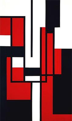 COLOR Geometric Art Andre Volten - Composition no. 12. 1957 oil on board