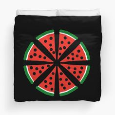 """Watermelon Slices"" Duvet Cover by Pultzar 