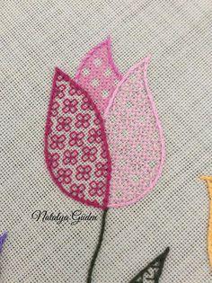 Embroidery Brazilian BEAUTIFUL Embroidery Stitchery by Natalya Guden. Brazilian Embroidery Stitches, Blackwork Embroidery, Types Of Embroidery, Hand Embroidery Stitches, Cross Stitch Embroidery, Embroidery Supplies, Embroidery Kits, Embroidery Designs, Blackwork Patterns