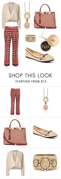 """A night out 👫"" by mrsagosto ❤ liked on Polyvore featuring F.R.S For Restless Sleepers, LE VIAN, Fendi, Victoria K, CITYSHOP and Oscar de la Renta"
