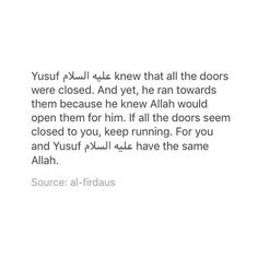 """When Allah(SWT) decrees that a door in your life is to be…"""