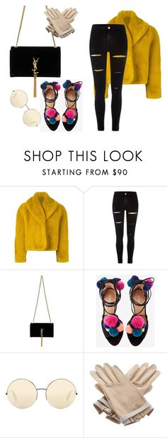 """hghg"" by lindabylinda ❤ liked on Polyvore featuring Jean-Paul Gaultier, River Island, Yves Saint Laurent, Victoria Beckham and Hermès"