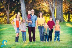 American Fork Family Photography - fall, candid, laughter, family of eight (8) - Silverstrand Photography