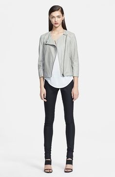 Helmut Lang Leather Jacket & HELMUT Lang Top, Leggings  available at #Nordstrom