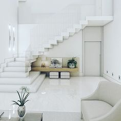 Modern Staircase Design Ideas - Surf photos of modern stairs and also discover design and design ideas to influence your very own modern staircase remodel, consisting of special railings and storage . Home Stairs Design, Interior Stairs, Modern House Design, Home Interior Design, Staircase Design Modern, Home Deco, House Staircase, Staircase Remodel, Loft Stairs