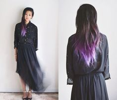 Purple Pastel Dark Ombre Hair--I cant explain my love for this but I do!!!