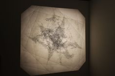 Drawings on layered glass projected onto a wall. Documenting the unconscious through mark making processes. 3d Landscape, Contemporary Sculpture, Mark Making, January, Drawings, Glass, Wall, Projects, Home Decor