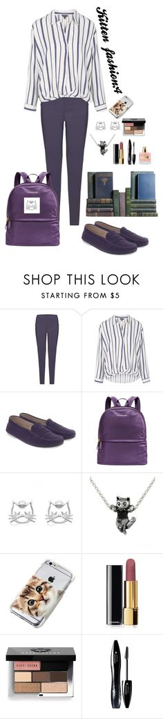 """""""School fashion (kitten 🐱):4"""" by nady-beren ❤ liked on Polyvore featuring James Lakeland, Topshop, Tod's, Michael Kors, deVos Jewellery, Chanel, Bobbi Brown Cosmetics and Lancôme"""