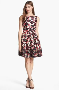 Taylor Dresses Fit & Flare Dress available at #Nordstrom